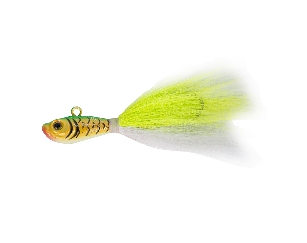 Artificial Lead Head Luminous Feather Hook Bucktail Jigs Fishing Hook