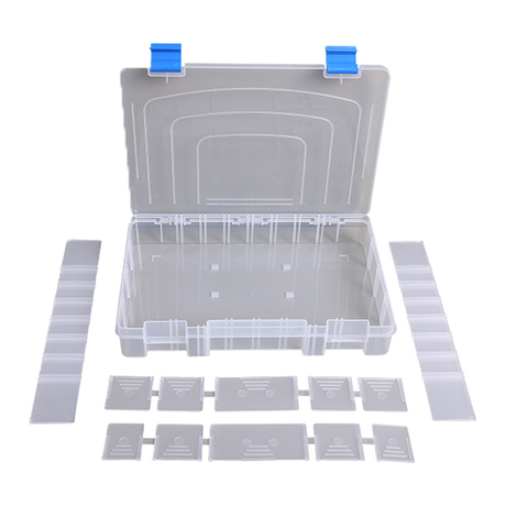 Plastic Storage Box Fishing Hook Line Fishing Tackle Box Container Accessories