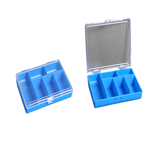 Transparent Plastic Mesh Storage Container Box