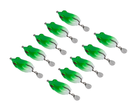 1Pcs Green Hollow Body Frog Lure Fishing Bait Fishing Tackle