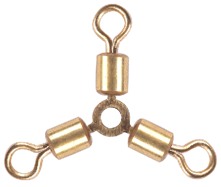 3-Way Rolling Swivel with Line Clip Fishing Swivel