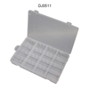 Clear Plastic 16 Grid Adjustable Jewelry Bead Storage Box Case Craft Organizer Home