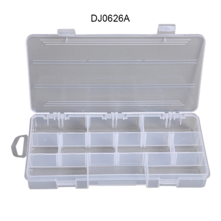 Adjustable Transparent Plastic Fishing Gear Storage Box